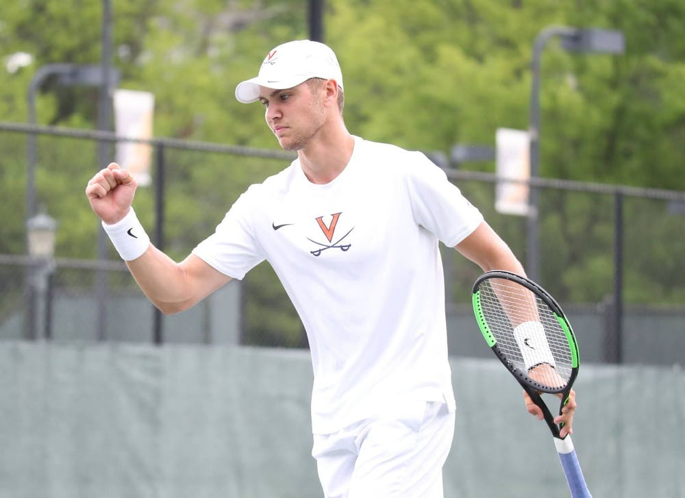 <p>After an injury-riddled 2020 campaign, No. 29 graduate student Carl Soderlund got off to a hot start, winning his singles match in straight sets.&nbsp;</p>