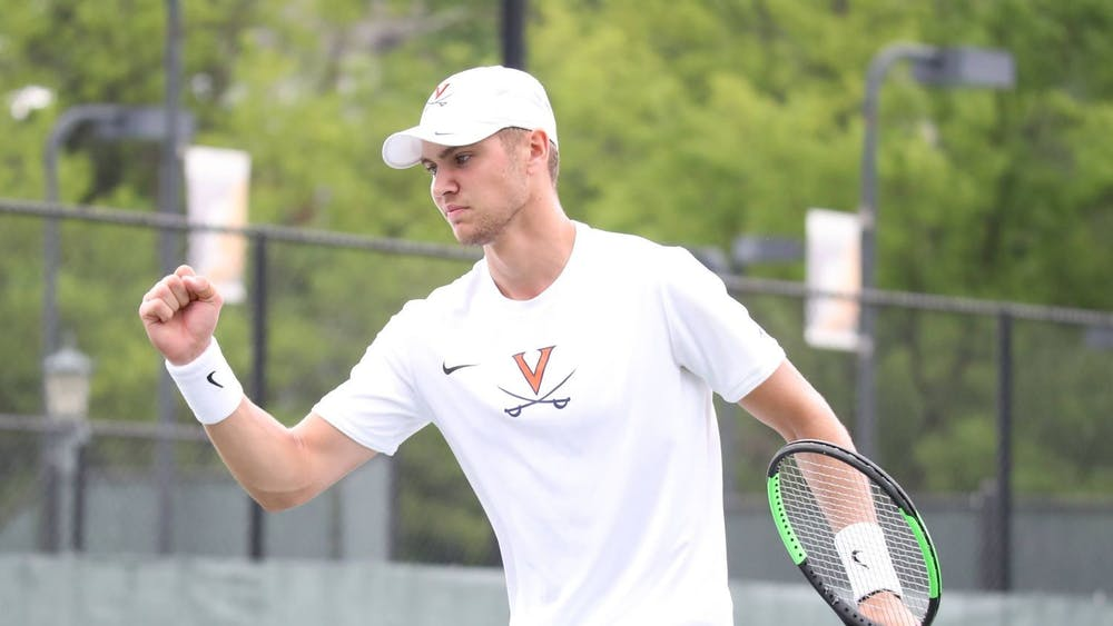After an injury-riddled 2020 campaign, No. 29 graduate student Carl Soderlund got off to a hot start, winning his singles match in straight sets.