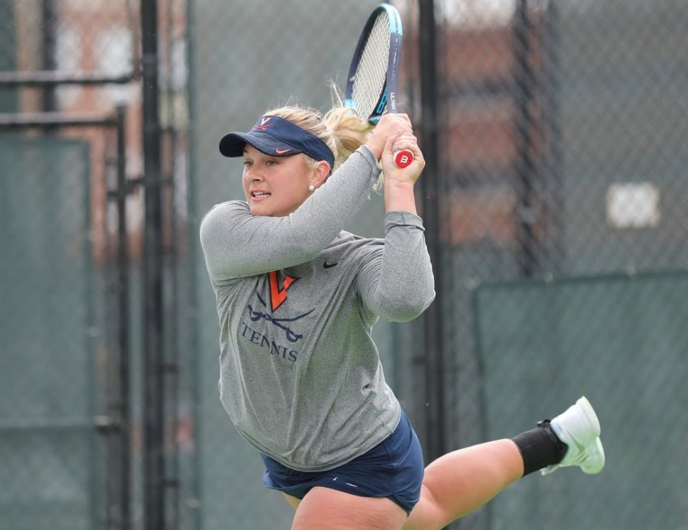 <p>Senior Chloe Gullickson won both of her singles matches against Syracuse and Florida State.&nbsp;</p>
