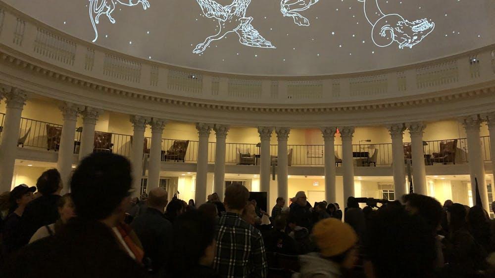 The planetarium is a tribute to Thomas Jefferson's original vision for the purpose of the Rotunda.