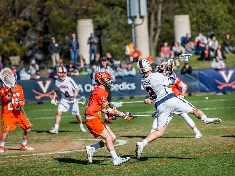 Virginia's leader in points is sophomore attackman Michael Kraus, who has 40 points for the Cavaliers.