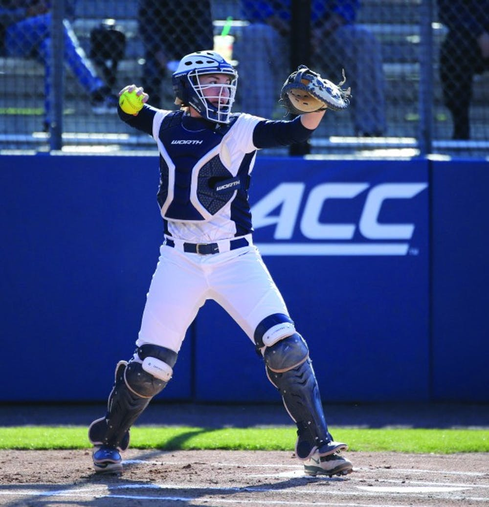 <p>Senior catcher Katie Park's home run helped Virginia force extra innings and ultimately win.&nbsp;</p>