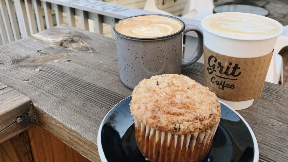 Conveniently placed on the road between the well-known locations of Mincer's and Starbucks, Grit offers a wide array of great quality coffee, tea and baked goods.