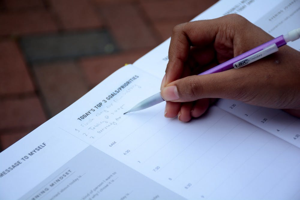 <p>Some students rely on agendas to be reminded of their schedule and goals.&nbsp;</p>