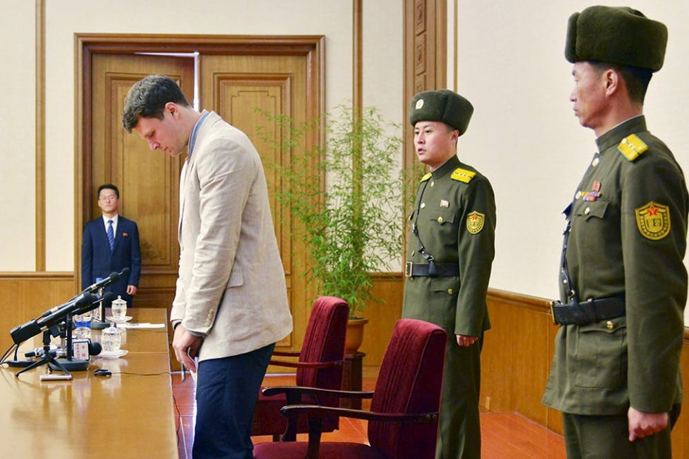 """<p>The statement came ahead of Thursday's one-year anniversary of Warmbier's <a href=""""http://www.cavalierdaily.com/article/2016/03/otto-warmbier-sentenced-to-15-years-hard-labor"""">sentence to 15 years of hard labor</a> by the North Korean Supreme Court for allegedly attempting to steal a political banner from a hotel.</p>"""