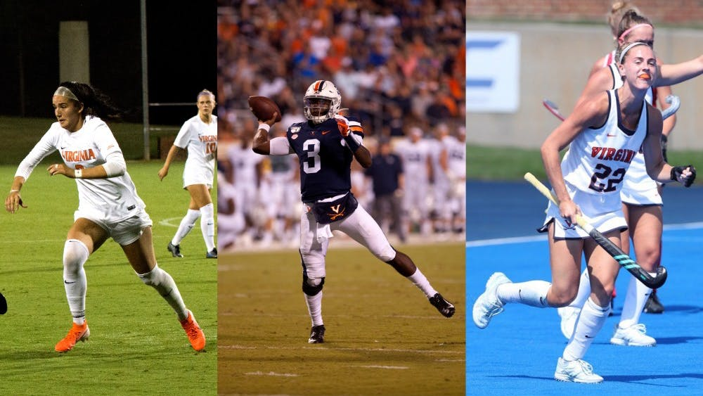 Virginia football, women's soccer and field hockey have just three losses combined in 2019.