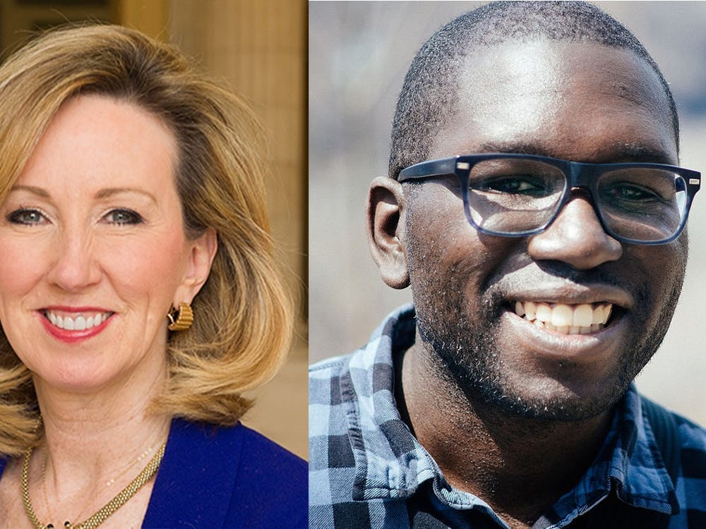 Barbara Comstock (left) is a former Republican politician and Jamelle Bouie (right) is a journalist who now lives in Charlottesville.