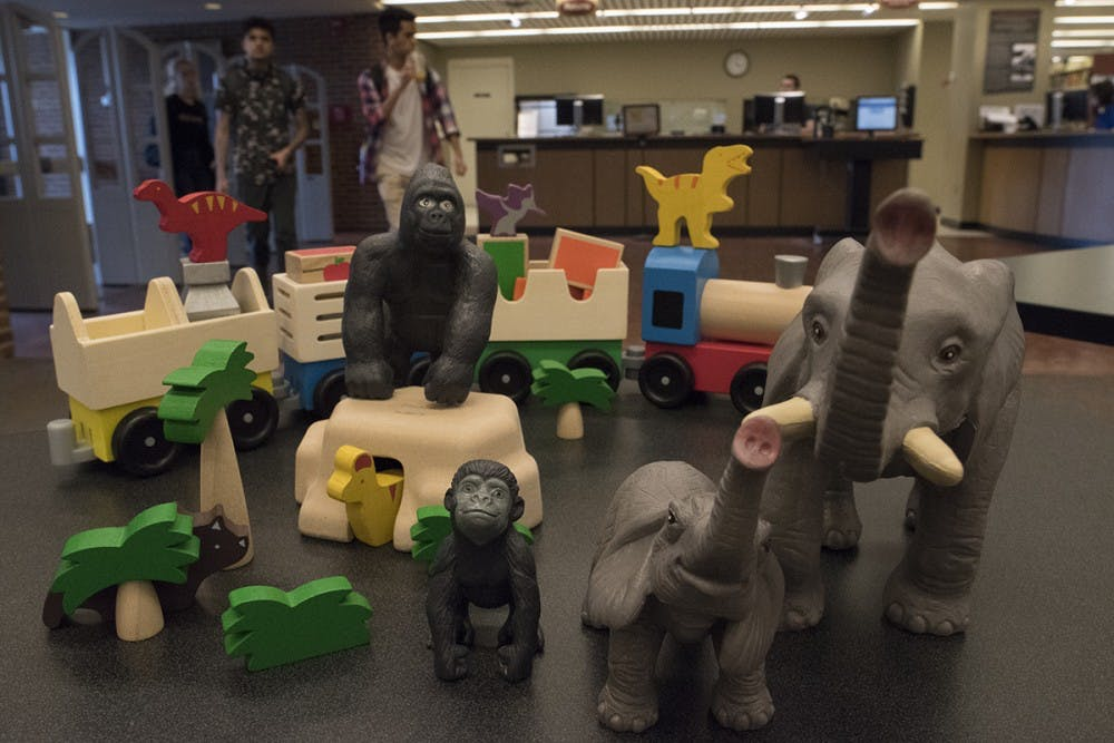 <p>The toys can be checked out from Clemons for two weeks at a time.</p>