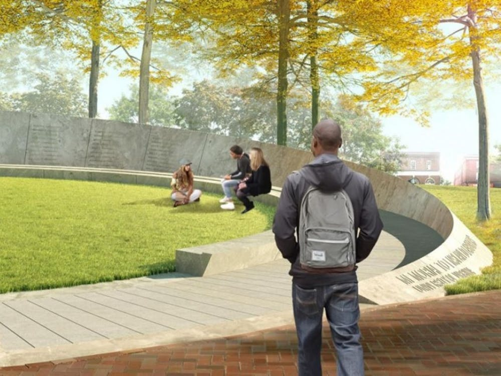 Designed to memorialize the thousands of individuals who built and maintained the University, the Memorial to Enslaved Laborers will sit near Brooks Hall.