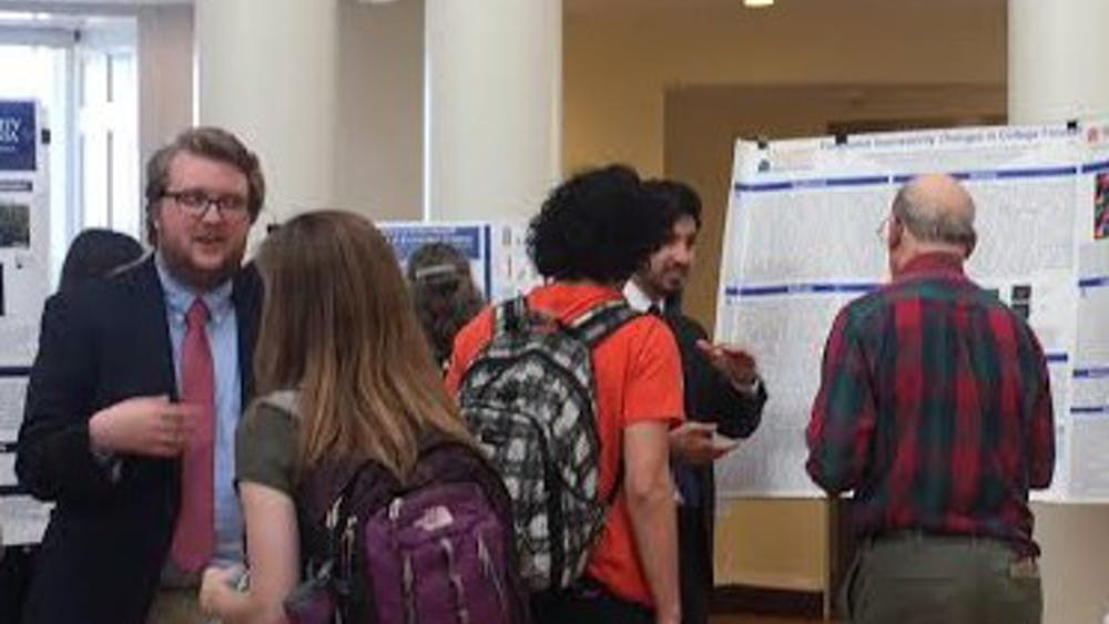 Students presented on a broad range of topics from potato farmers in the Andes to the declining bumblebee population in Virginia.