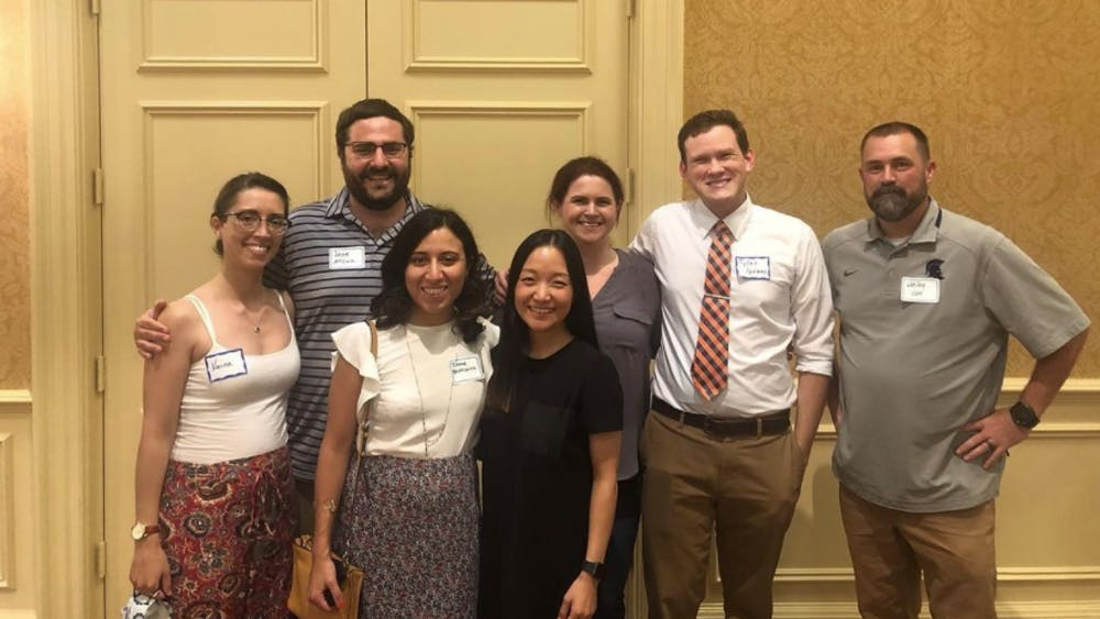 On Aug. 31, members of the First-Generation Graduation Student Coalition attended a welcome reception on Grounds where Robyn Hadley, the University's vice president and chief student affairs officer, spoke about her experience as a first-generation college student.