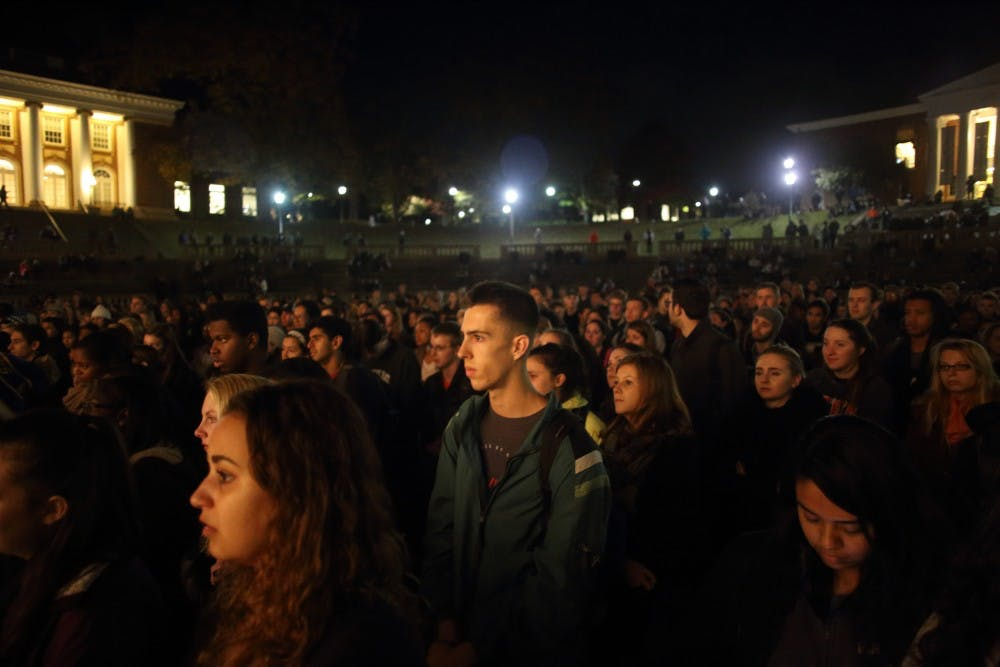<p>Hundreds of students and community members attended the event, which was held in the Amphitheatre.</p>