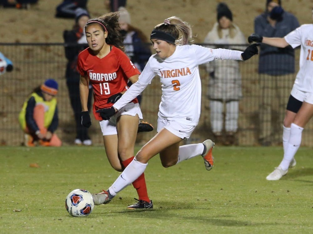 Junior midfielder Sydney Zandi scored her fifth goal of the season in the 23rd minute to put Virginia on the board first.