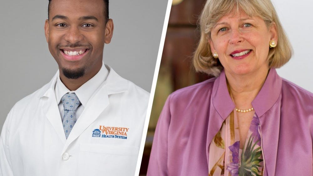 Dr. B. Cameron Webb (pictured left), a renowned doctor and lawyer, and School of Nursing Dean Dorrie Fontaine (pictured right) were selected to speak at the University's 190th Final Exercises.