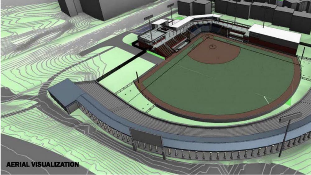 A rendering of the proposed stadium was included in the Board of Visitors agenda materials.