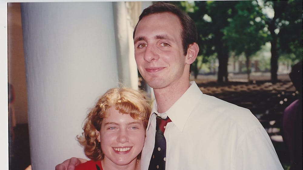 Sarah and Chad pictured at their graduation in 1996.