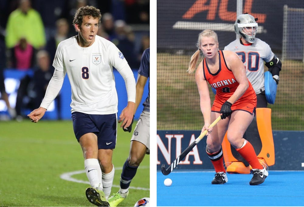 <p>Men's soccer's Joe Bell and field hockey's Rachel Robinson were both named Scholar-Athlete of the Year for their respective sports.</p>
