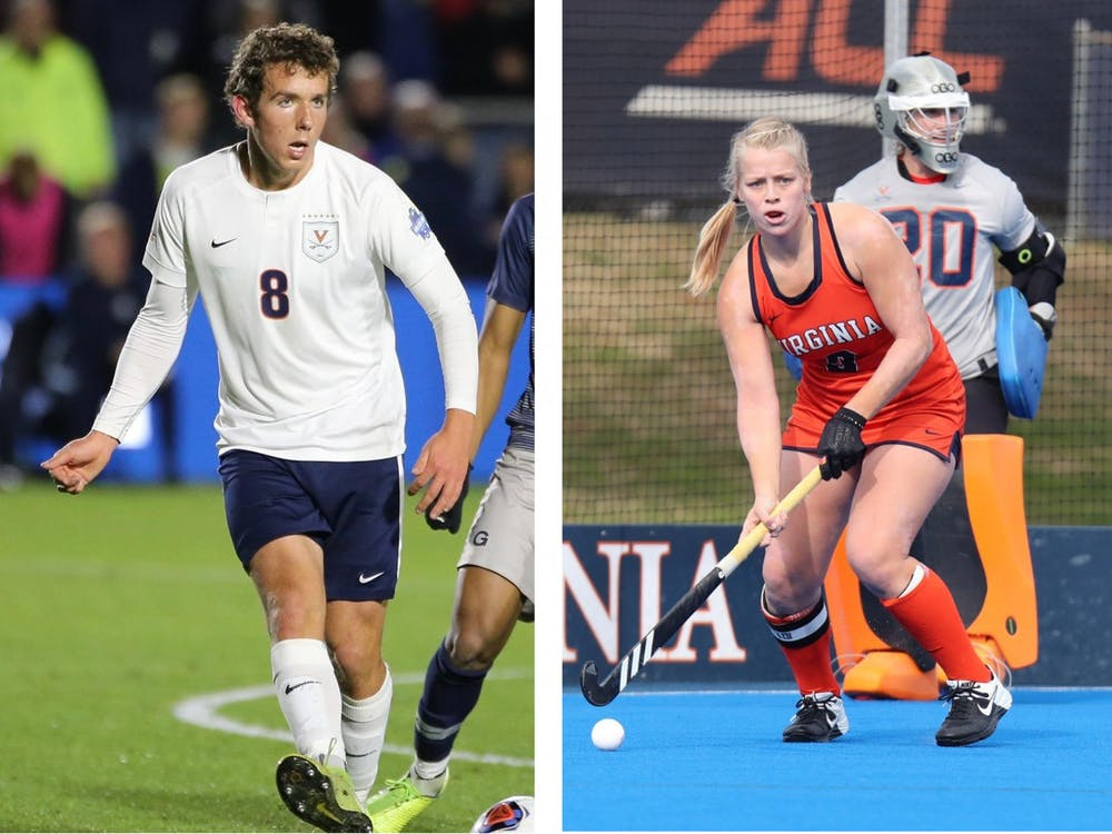 Men's soccer's Joe Bell and field hockey's Rachel Robinson were both named Scholar-Athlete of the Year for their respective sports.