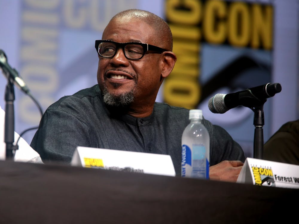 "Forest Whitaker, who stars in ""Jingle Jangle"" along with an all-star lineup, pictured at San Diego Comic Con in 2017."