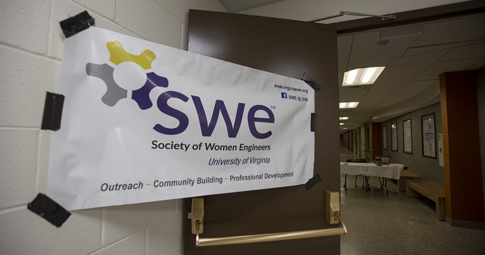 <p>The Society for Women Engineers at the University hosted middle school girls from around Virginia to promote science with hands on activities.</p>