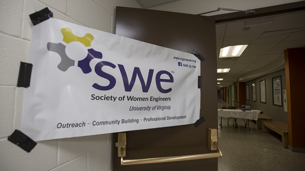 The Society for Women Engineers at the University hosted middle school girls from around Virginia to promote science with hands on activities.