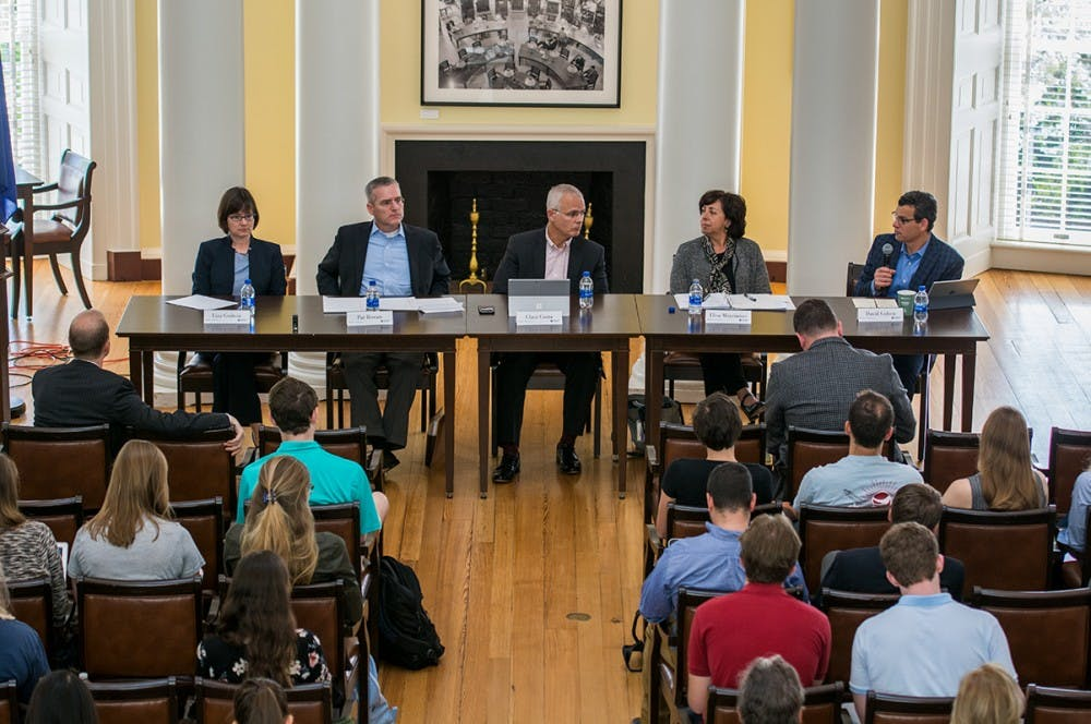<p>The panel included current and former military and administrative officials.</p>