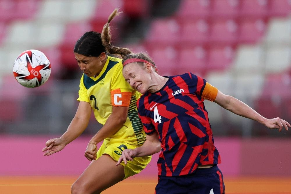 <p>Former Virginia defender Becky Sauerbrunn captained the American women to a bronze medal finish at this year's Olympics.&nbsp;</p>