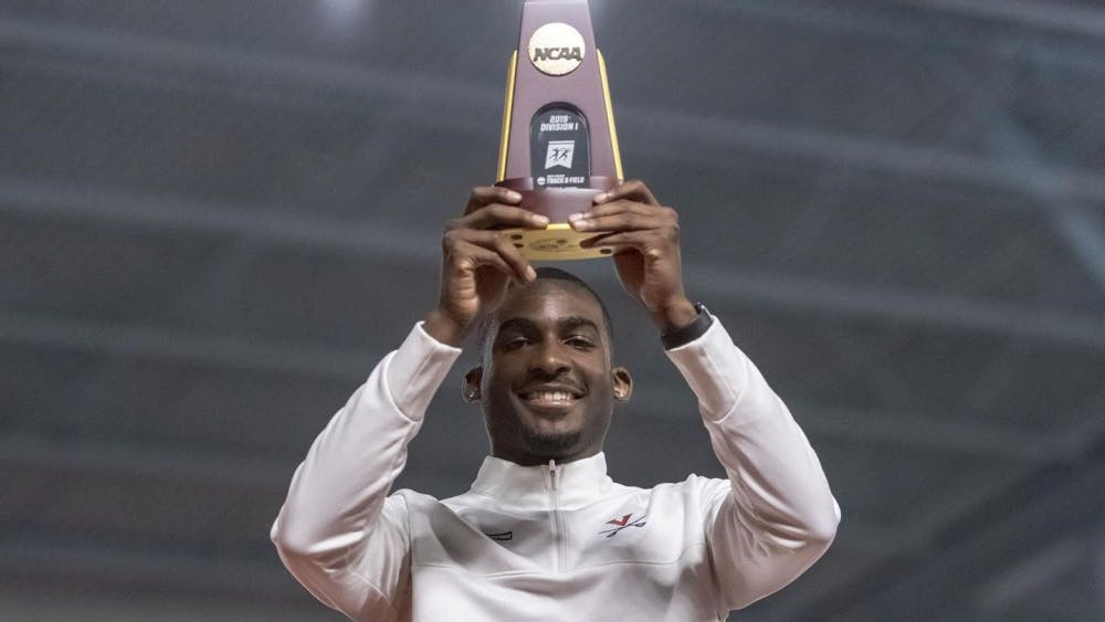 Jordan Scott was the only competitor to surpass 55 feet in the NCAA Indoor Championships.