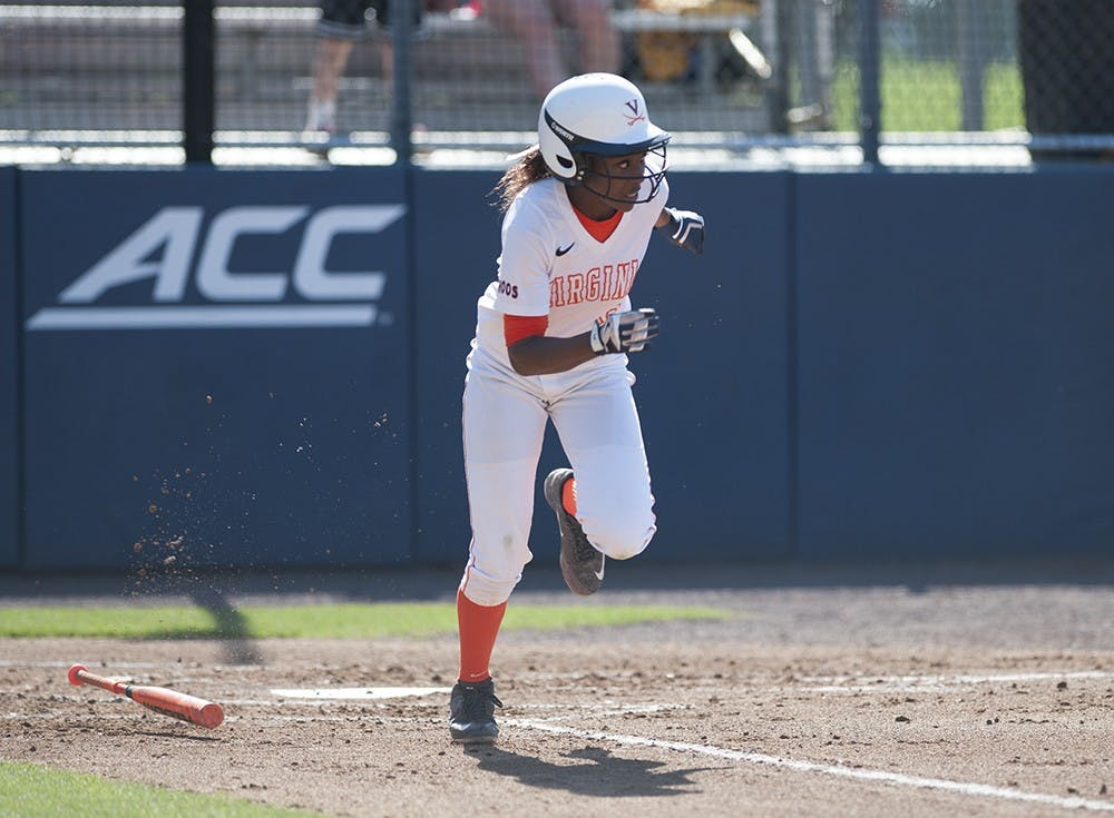<p>Junior outfielder Iyana Hughes scored twice in Virginia's 6-3 victory over Longwood in game two of a doubleheader. The Cavaliers lost game one, 7-1</p>