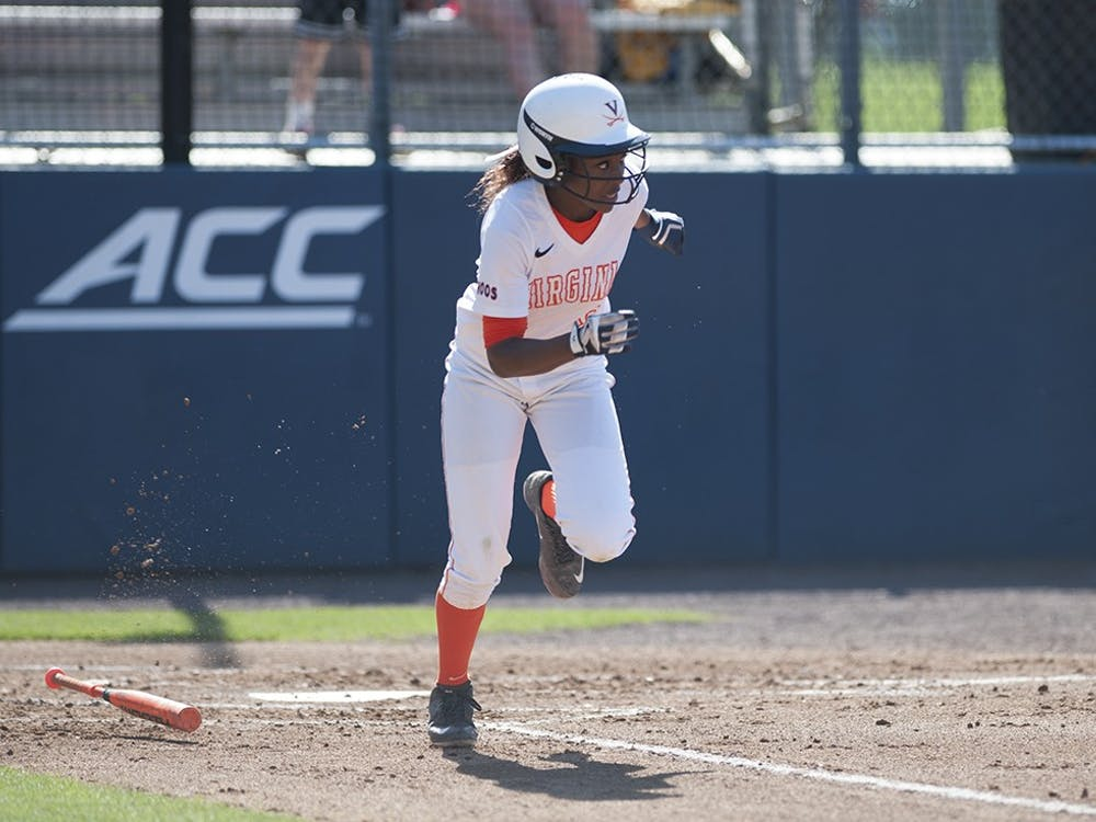 Junior outfielder Iyana Hughes scored twice in Virginia's 6-3 victory over Longwood in game two of a doubleheader. The Cavaliers lost game one, 7-1