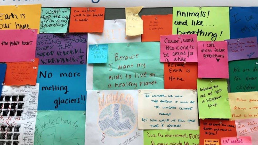 Various voices from the U.Va. community on climate change were displayed in the Write Climate exhibition.