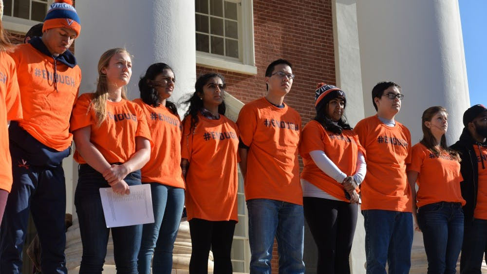 Hundreds of students gathered on the Lawn on March 14, to urge lawmakers to make the current gun laws more restrictive.
