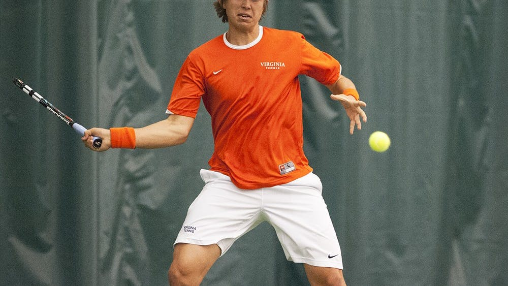 Senior Ryan Shane ruled out with an undisclosed injury Saturday, sophomore Collin Altamirano stepped into Virginia's No. 1 singles position. Altamirano gave his all in a 6-2, 6-3 defeat, as the shorthanded Cavaliers fell 4-3 in Urbana, Illinois.
