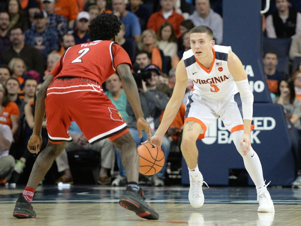 Sophomore guard Kyle Guy scored 19 points in Thursday afternoon's quarterfinal game against Louisville.