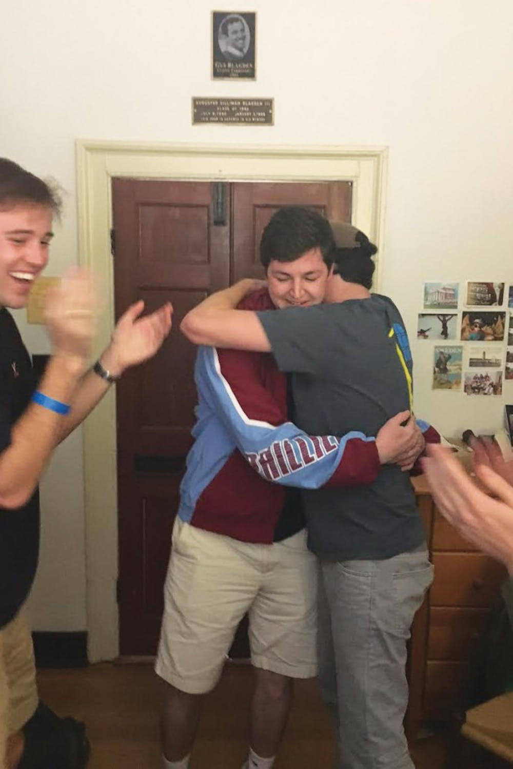 "<p>Friends surprise Henry Crochiere upon learning he would be the occupant of the ""Good Guy"" Lawn room in the 2017-18 school year.</p>"