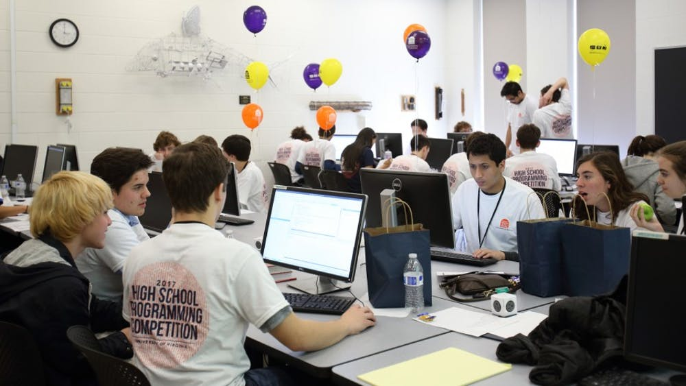 High school students raced to correctly answer the most computing questions in the least amount of time.