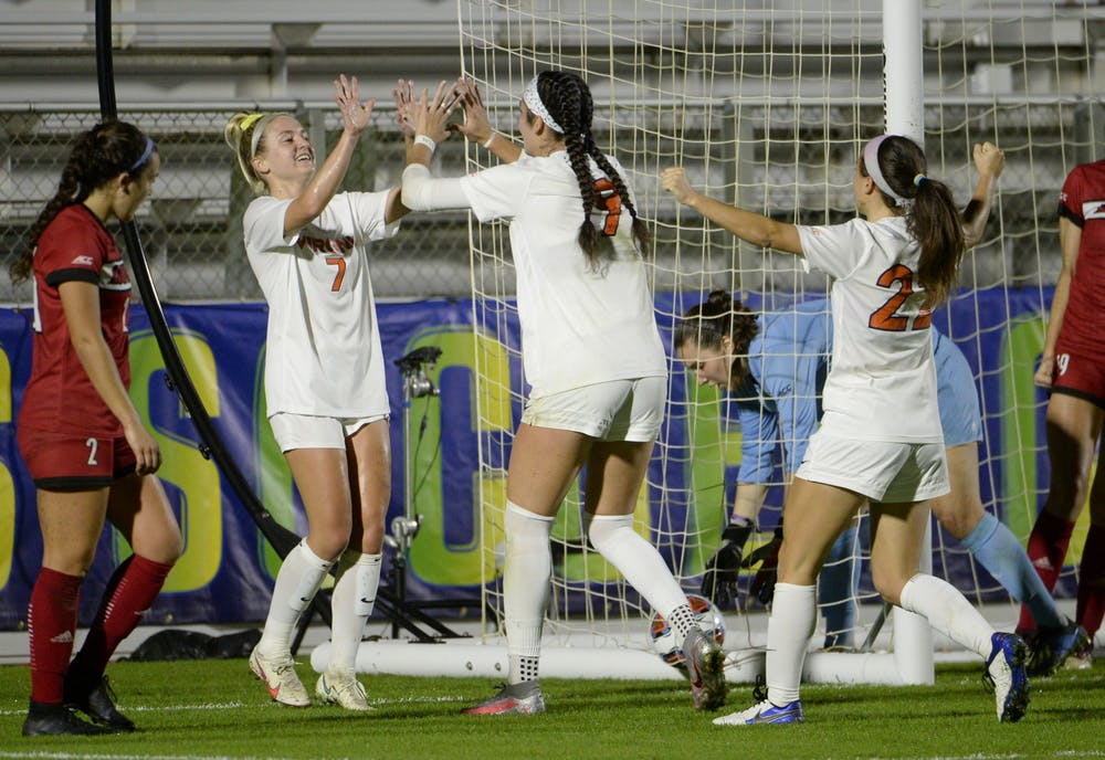<p>Sophomore forward Diana Ordoñez recorded the first hat trick in the ACC Tournament since 2004 as she guided the Cavaliers to victory Tuesday night.&nbsp;</p>