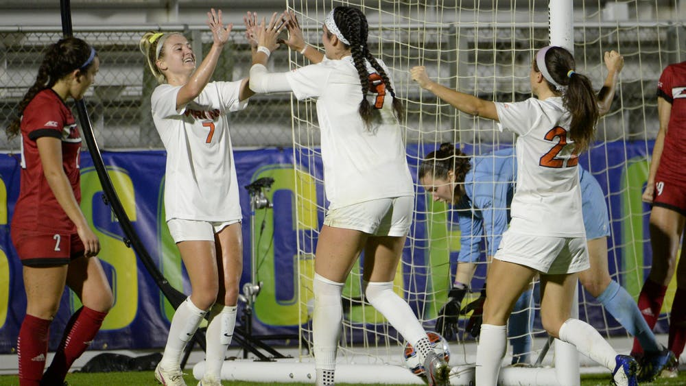 Sophomore forward Diana Ordoñez recorded the first hat trick in the ACC Tournament since 2004 as she guided the Cavaliers to victory Tuesday night.