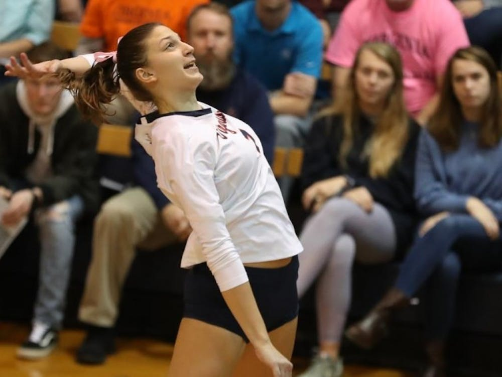 Senior right side Jelena Novakovic had 10 or more kills in 10 matches last year.