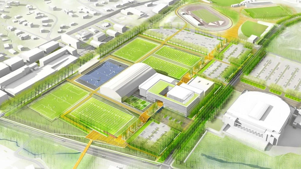 <p>The new Athletics Master Plan complex will provide facilities for more than 70 percent of Virginia's sport programs.</p>