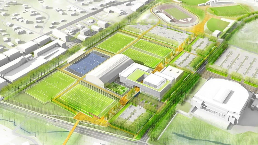 The new Athletics Master Plan complex will provide facilities for more than 70 percent of Virginia's sport programs.
