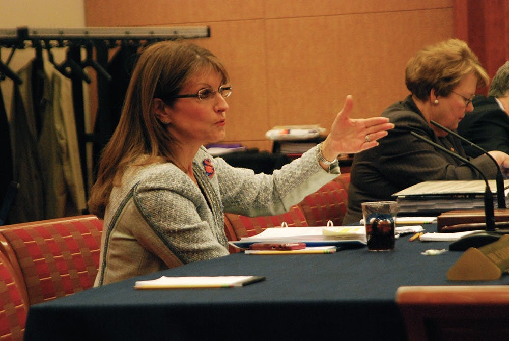 <p>Board memberHelen Dragas said she was concerned about the amount oftransparency surrounding the proposal.</p>