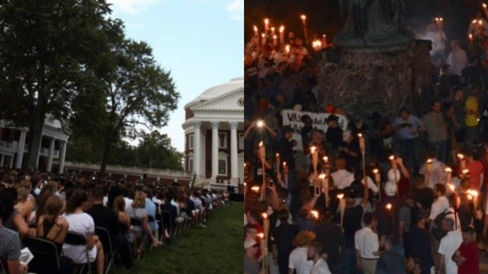 The Class of 2021 arrived on Grounds last year one week after white nationalist marched down the Lawn bearing torches Aug. 11.