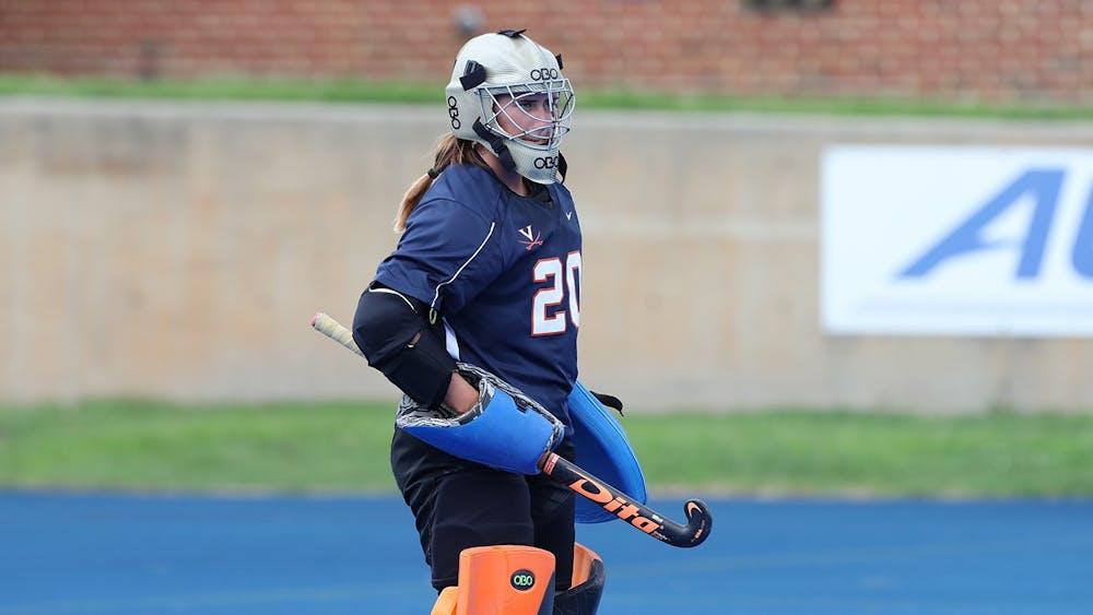 <p>Sophomore goalkeeper Lauren Hausheer is just one of many talented players returning next season for the Virginia field hockey team.</p>