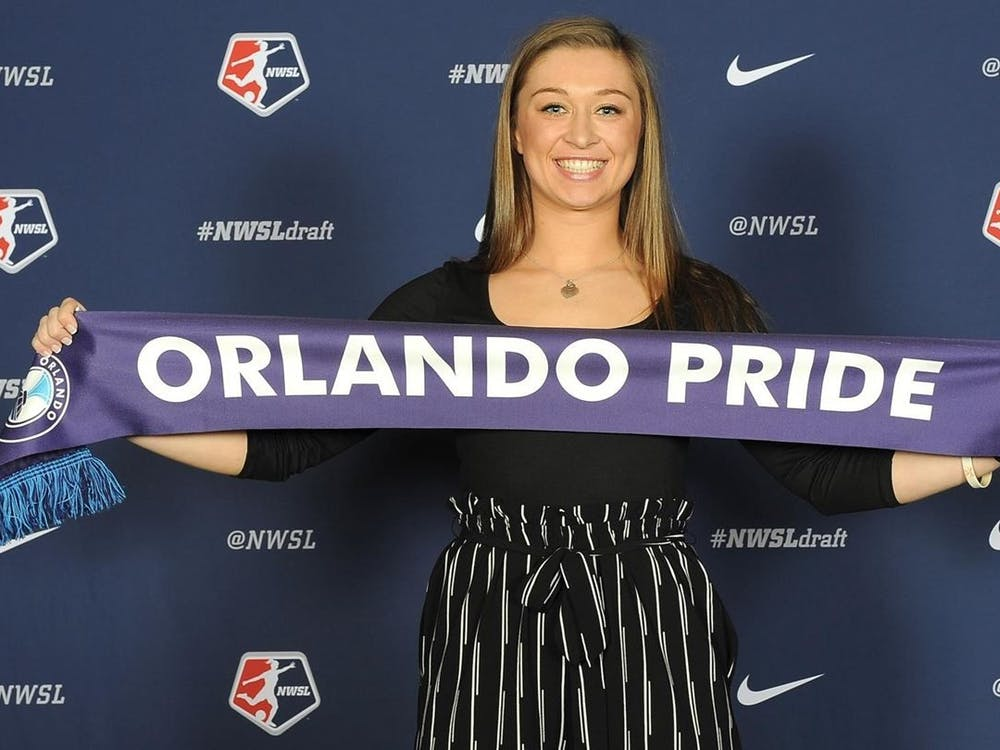 Senior defender Courtney Petersen was the seventh overall draft pick and was selected by the Orlando Pride alongside teammate Phoebe McClernon.