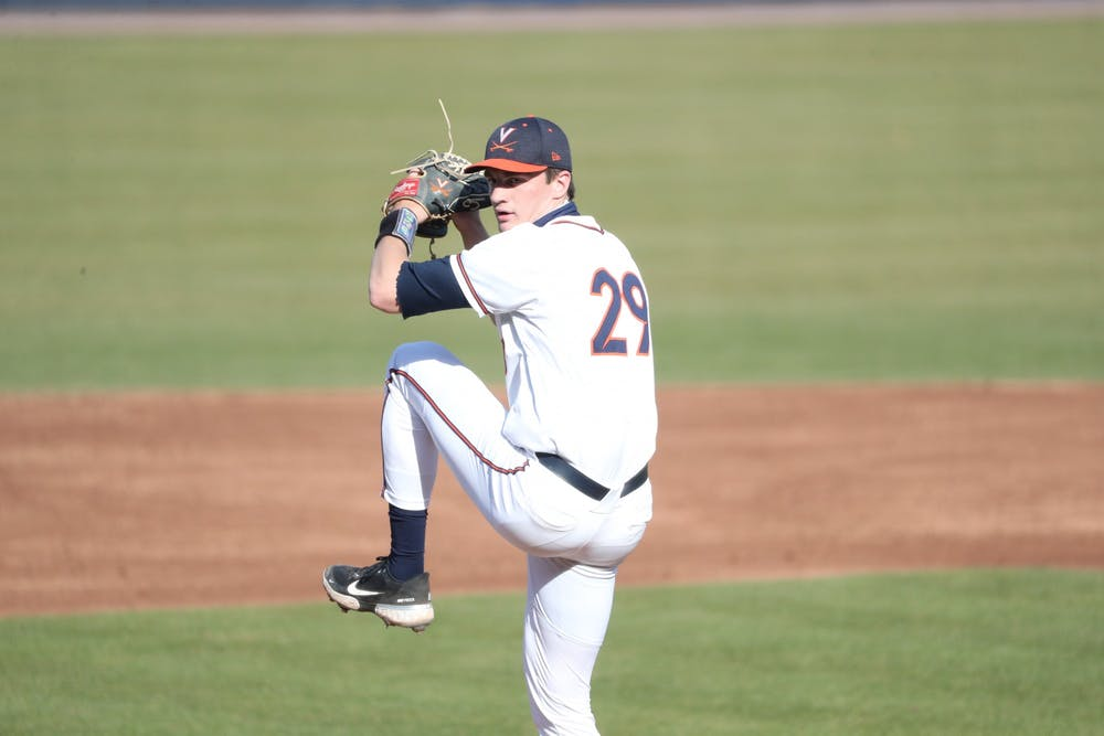 <p>Junior right-hander Zach Messinger was credited with the win today after pitching three perfect innings in the game —&nbsp;making it the fifth straight game in which he did not allow a run.</p>