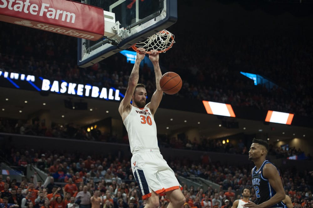 <p>Junior forward Jay Huff was outstanding against Duke, posting 15 points along with a career-high 10 blocks.&nbsp;</p>
