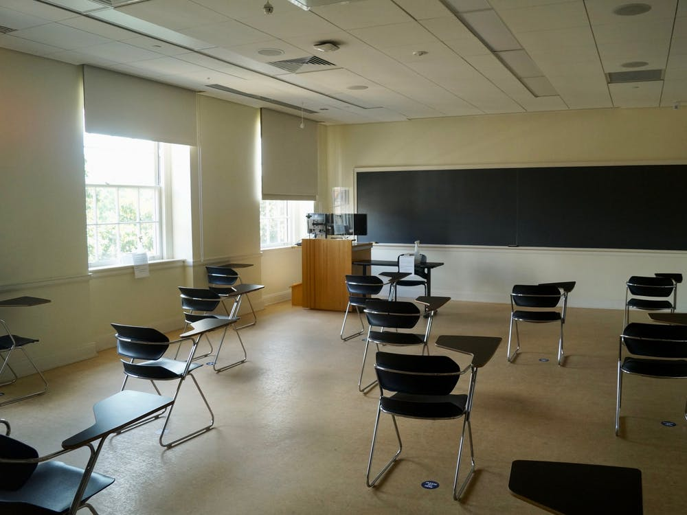 During a normal semester, students tend to capitalize on the physical proximity of professors in their classrooms, arriving to lecture a few minutes early or lingering after to chat.