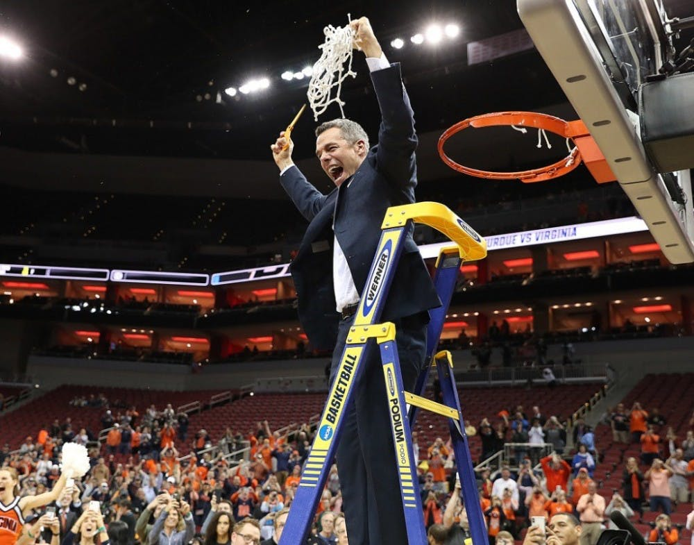 <p>Despite coming up short in past years, Coach Tony Bennett led this year's Virginia team to its first Final Four berth since 1984 with an overtime win over Purdue Saturday night.</p>
