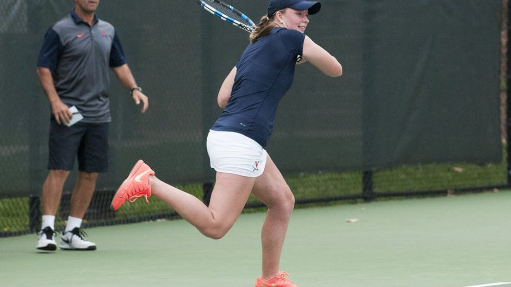Junior Cassie Mercer took a point for the Cavaliers in singles play against NC StateFriday.